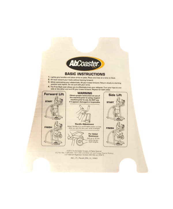 AbCoaster SW Model Instruction Decal