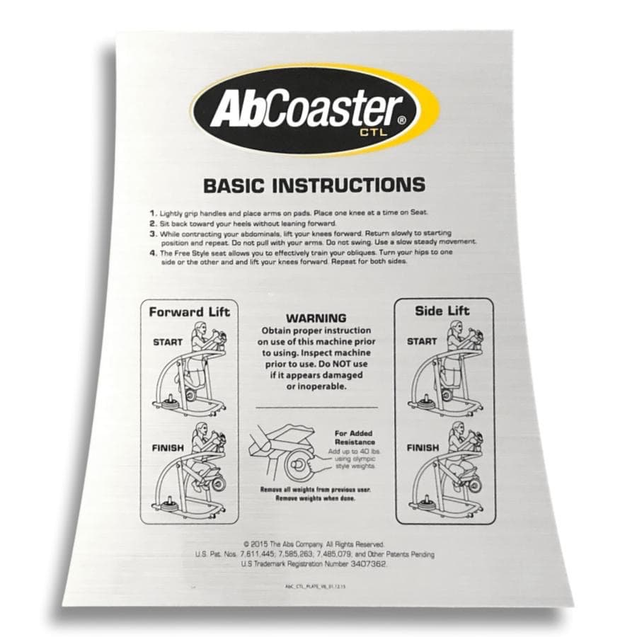 CTL Instruction Decal ABS9020011