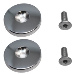 Aluminum Foot Pad End Caps and Hardware for Abs Bench x2, Vertical Crunch and Target Abs ABS Serials ABS900008