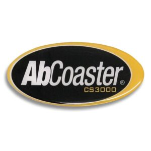 Oval Front Panel Sticker for AbCoaster CS3000 ABS901002