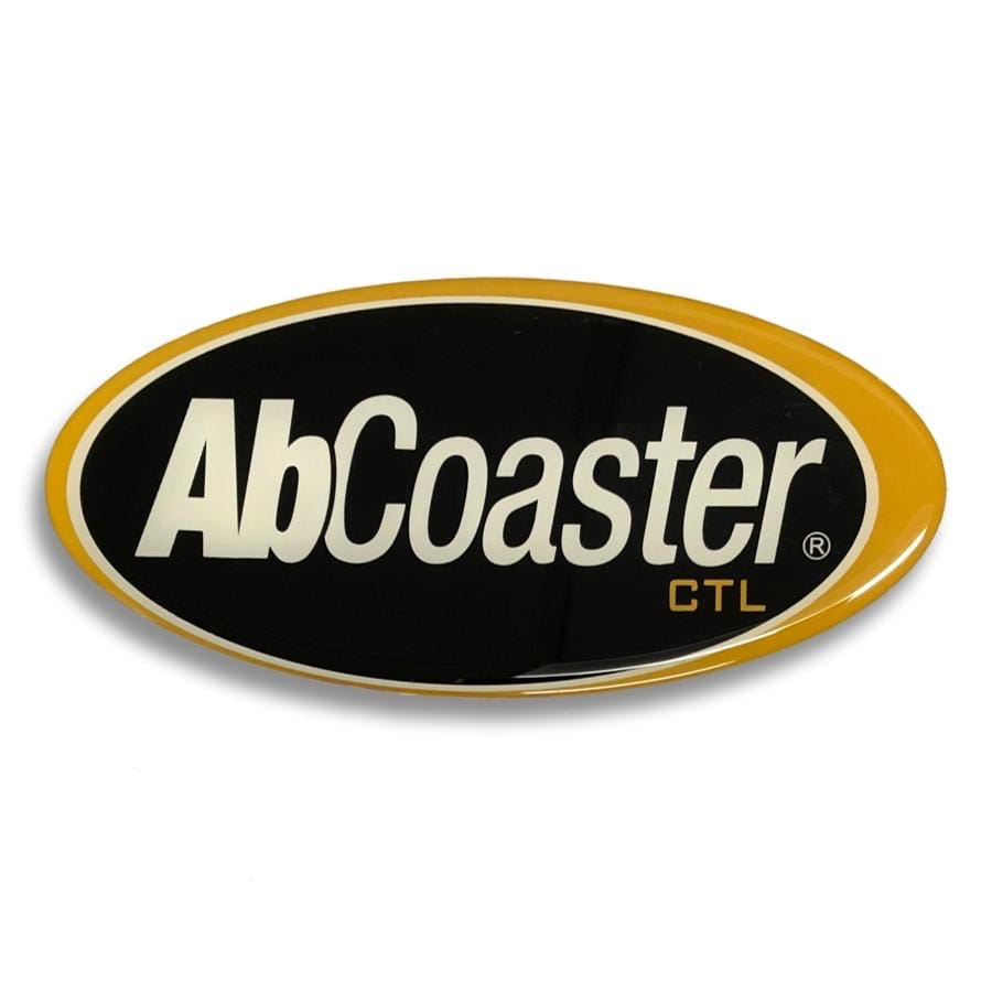 Oval Front Panel Bubble Sticker for AbCoaster CTL