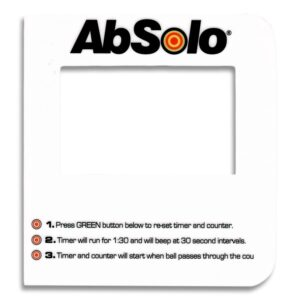 Instruction Decal for AbSolo® Counter Console