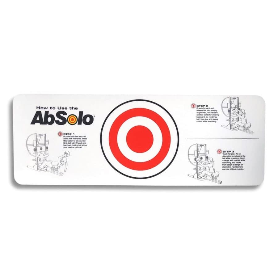 Instruction Decal for AbSolo® with Red Target